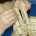 Removing Clothespins from a Basket