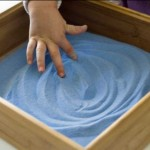 Drawing in a Sand Tray