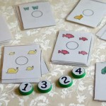 Animal Counting Cards for Milk Cap Numbers