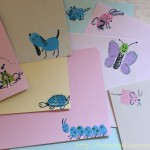 Fingerprint Animal Note Cards