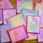 Watercolor Resist Valentines
