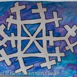 Snowflake Silhouette with Masking Tape
