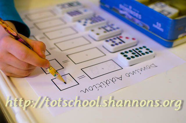 Domino Addition Shannons Tot School – Dominoes Math Worksheets