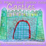 Pastel and Watercolor Castles