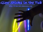 Glow Sticks in the Tub (Shannon's Tot School)