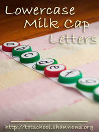 Milk Cap Letters