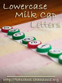 Milk Cap Letters