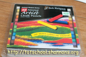 Glue Paint and Chalk Pastel Art (Shannon's Tot School)