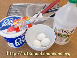Beautiful Edible Marbled Eggs (Shannon's Tot School)