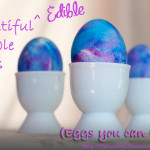 Edible Marbled Easter Eggs