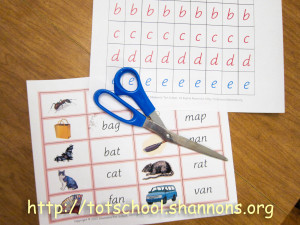 Word Building (Free Printable Movable Alphabet and Pink Series Word Cards)