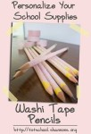 Washi Tape Pencils (@Shannon's Tot School)