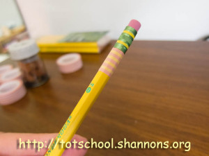 Washi Tape Pencils (Shannon's Tot School)