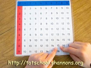 Montessori Finger Chart for Addition