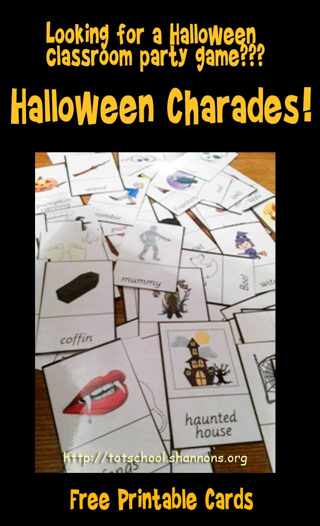 photo regarding Halloween Charades Printable referred to as Halloween Charades Â« Shannons Tot Faculty
